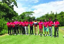 GOLFING LAWYERS. The Panyero Golf Team, composed mostly of Tau Mu lawyers led by Atty. Ed Batacan (5th from right) and Atty. Vincent Paul Montejo (4th from right).