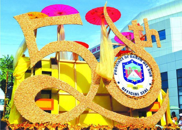 Davao del Sur's Golden anniversary float