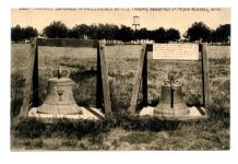 Two Balangiga bells exhibited at Fort D.A. Russel, now F. E. Warren Air Force Base / Wikipedia Photo