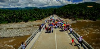 Newly constructed 150.28 meter-long, two-lane Pre-stressed Concrete Girder (PSCG) Bridge in Barangay San Pedro, Caraga, designed to withstand heavy floods.