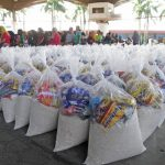 Hundreds of food packs were distributed to the displaced residents of Marawi City by the City Government of Tagum. The goods were gathered through the successful conduct of the city-wide donation drive last month as initiated by One Tagumenyo Youth Movement and the city government. Vinz Davo/CIO Tagum