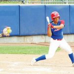 BIG WIN. Francesca Altamonte at bat. She hit a two-run homer for the Philippines inn the win against Canada.