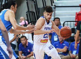 TAKING TIME. Gilas rookie Kobe Paras understands he is going through the process. (CTBA photo)