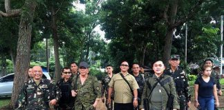 President Rodrigo Duterte was forced to land at the 2nd Mechanized Infantry Brigade in Iligan City on 07 July 2017 due to foul weather. Duterte was supposed to have visited Marawi to talk to his troops. PCOO photo