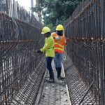 IRON WORKS. Workers tie round bars with a wire for a girder which will be used in the ongoing rehabilitation and expansion of Ma-a Bridge along Carlos P. Garcia Highway in Davao City on Tuesday. LEAN DAVAL JR.