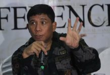 ELATED.Police Regional Office (PRO) 11 director Chief Superintendent Manuel Gaerlan expresses satisfaction over the 65-day implementation of martial law.Gaerlan also said during the AFP-PNP Press Corps media forum at The Royal Mandaya Hotel on Wednesday that this version of martial law proved to be for the masses. LEAN DAVAL JR.