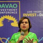 SAFE AND SOUND. Davao City Mayor Sara Duterte-Carpio tells foreign and local investors that now is the perfect time to invest in the city during Davao Investment Conference (Davao ICON) 2017 news conference at SMX Convention Center in Lanang, Davao City on Friday. The mayor also gave her assurance to investors and tourists that Davao City is safe despite the Martial Law in Mindanao. LEAN DAVAL JR.