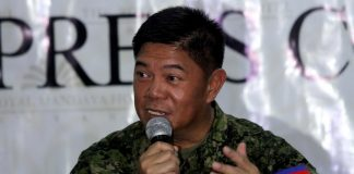 JOB WELL DONE.Eastern Mindanao Command (EastMinCom) assistant commander and Martial Law spokesperson Brigadier General GilbertGapay says the region has been peaceful and the security is stable during the 65-day of martial law implementation. Gapay added during the AFP-PNP Press Corps media forum at The Royal Mandaya Hotel on Wednesday that military were able to prevent a spill-over of the Marawi conflict because of martial law. LEAN DAVAL JR.