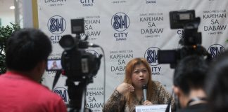 ADVOCACY. National Nutrition Program regional coordinator Ma. Teresa Ungson promotes the practice of proper diet among Dabawenyos as obesity cases in the region is on an upward swing. Ungson also said during the Kapehan sa Dabaw at the Annex of SM City Davao on Monday that the agency is encouraging eatery owners in the city to put nutritional content labels on the food that they serve. LEAN DAVAL JR.