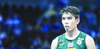 DID HE START IT Far Eastern University guard Ron Dennison was shows on several video clips uploaded on social media hitting La Salle guard Ricci Rivero