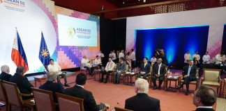resident Rodrigo Roa Duterte meets with the foreign ministers who participated the Association of Southeast Asian Nations (ASEAN) Foreign Ministers Meeting on the sidelines of the 50th Grand Anniversary Celebration of ASEAN at the Philippine International Convention Center in Pasay City on August 8, 2017. KING RODRIGUEZ/PRESIDENTIAL PHOTO