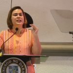 Davao City Mayor Sara Duterte-Carpio delivers her State of the City Address on Tuesday, September 12, highlighting city government's accomplishments and future plans for the city. Mindanews Photo