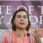 Davao City Mayor Sara Duterte-Carpio faces the media after she delivered her State of the City Address on Tuesday, September 12, highlighting city government's accomplishments and future plans for the city. Mindanews Photo