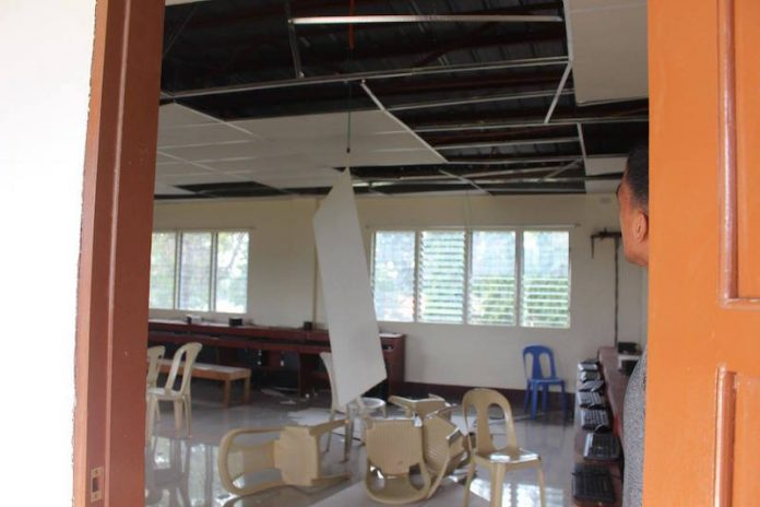 Impact of the quake in Wao, Lanao del Sur due to Sunday's early morning quake. Photos courtesy of the Municipal Disaster Risk Reduction Office-Wao