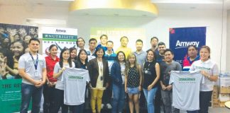NUTRILITE RUN. Nutrilite Health Run Organizers with sportd media during the press conference held at Amway Distribution Center Ecoland Davao City last September 12 2017