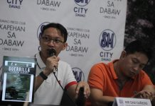 UPCOMING. DaxCañedo(left) of Mindanao Film and TV Development Foundation and filmmaker and media personality Rudolph Alama provide the details of the upcoming Guerilla filmmaking workshops set next month at Cinematheque Davao during KapehansaDabaw at the Annex of SM City Davao on Monday. LEAN DAVAL JR.