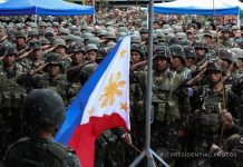 Philippine Flag was raised as President Rodrigo Duterte declared Marawi City liberated from the terrorists. His declaration came on the heels of the death of the terrorist leaders Isnilon Hapilon and Omar Maute. The President then commended the military and police who have risked their lives fighting the terror threats. He also announced that the liberation of Marawi City marks the start of the rehabilitation process of the war-torn city.-PPD