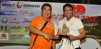 WINNERS ALL. Atty. Batacan with the rest of the winners of the RD Golf Classic.