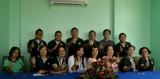 Agdao Multipurpose Cooperative (AMPC) general manager Paterno Romeo F. Patrimonio Jr. ( 2nd from left, 1st Row) together with the board members of AMPC flashed a thumbs up after the press conference during the AMPC Building 2 Inauguration at Lao St. Toril, Davao City on November 28, Tuesday. ANGIE SAVERON