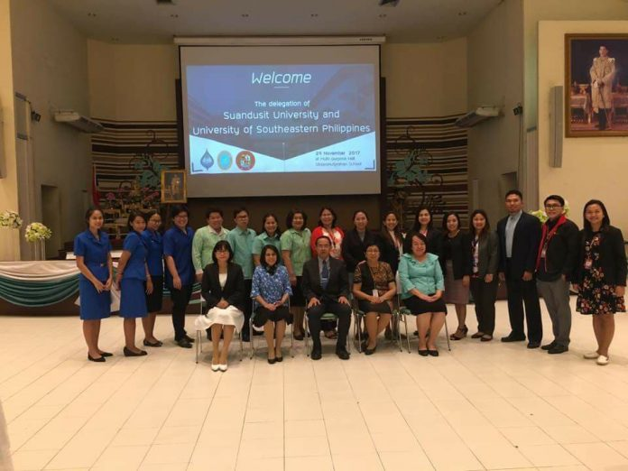USeP EDD students with Dr. Sittiporn Iamson, Dean, Faculty of Eduation, Suan Dusit University, Bangkok, Thailand