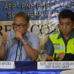 ON LIMBO. Ret. SSupt Tony Rivera (left) Regional Director of Philippine Drug Enforcement Agency Region XI announces that his office is still waiting for the additional directives from the National Agency during the AFP-PNP Press Corps Southern Mindanao Media Briefing on Thursday. Together with him is Supt. Ernesto Castillo (Right) Chief of Davao City Traffic Group. ANGIE SAVERON