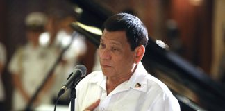 President Rodrigo Roa Duterte addresses the members of the Malacañang Press Corps during the Christmas Party in Malacañan Palace on December 12, 2017. KARL NORMAN ALONZO/PRESIDENTIAL PHOTO