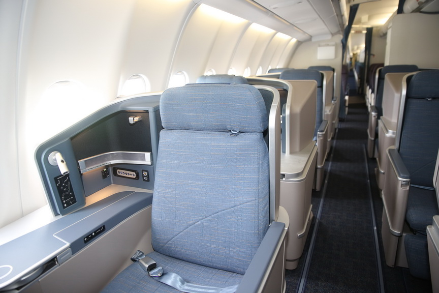 New Business Class seats for the reconfigured A330s, redefining cabin comfort.
