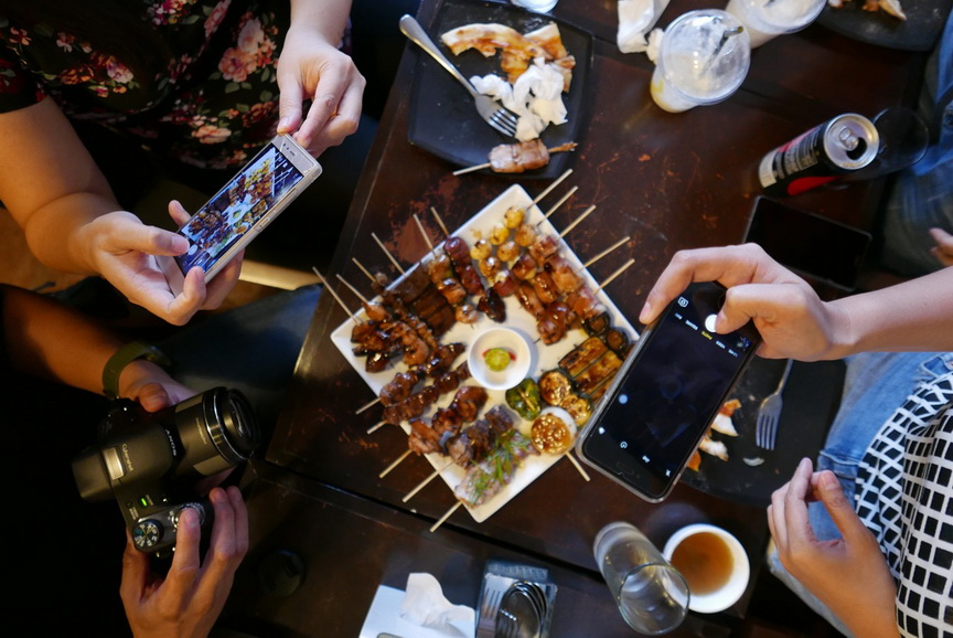 One of each kind of grilled item is served .