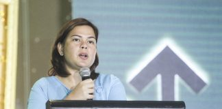 INCLINED FOR RE-ELECTION. Davao City Mayor Sara Duterte-Carpio says she will run for mayor again in 2019 and she won't seek a national post as she wants to realize the city's farm-to-market road system and high-priority bus system during her speech in the Davao City Chamber of Commerce and Industry, Inc. (DCCCII) 50th annual installation of officers and board of trustees held at SMX Convention Center in Lanang, Davao City on Friday night. But Duterte-Carpio said later in an interview that nothing is final and her decision could depend on the clamor of voters. LEAN DAVAL JR