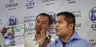 DOABLE ADVOCACY. Ecoteneo Nick Solana (right) calls for participation in the environmental advocacy of refusing single-use plastic as part of the zero waste mandate of the Ecological Solid Waste Management Law. Solana, together with Dan Mark Aguilos of Cycle for Life, made the announcement during the Kapehan sa Dabaw at the Annex of SM City Davao on Monday. LEAN DAVAL JR