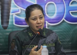 ASSURANCE. Davao City Police Office (DCPO) spokesperson Sr. Ins' Maria Teresita Gaspan says they will implement tight security measures and security plans for the upcoming celebration of Chinese New Year and the staging of the Davao Regional Athletic Association (DAVRAA) games are already in place. Gaspan made the statement during I-Speak media forum at City Hall on Thursday. LEAN DAVAL JR