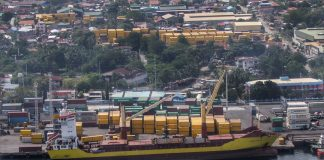 A sea vessel docks in one of the Davao City's ports. Sangguniang Panlungsod's finance, ways and means committee on Tuesday reported that the city's tax collection from January to February hit P2.594 billion, a 21-percent more than the P2.135 billion recorded for the same period last year. Lean Daval Jr