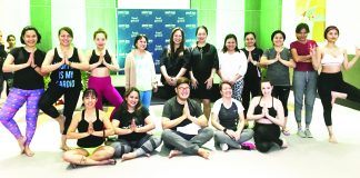 After Yoga Photo with PIDV GM, Ms. Emelyn Rosales and Ms. Cherry Al-ag of Elysia Wellness Spa