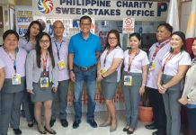 PCSO General Manager Alexander Balutan poses with the employees in the newly opened Agusan del Sur Branch Office
