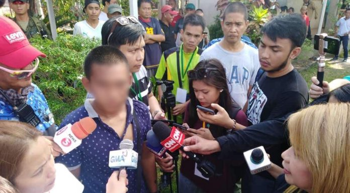 This 17-year old 'flying voter', shown here interviewed by reporters, was caught and beaten up by some residents who cast their votes in Cotabato City during Monday's tension-filled Bangsamoro Organic Law plebiscite. The incident was one of many reported irregularities in Cotabato City. Armando Fenequito Jr.