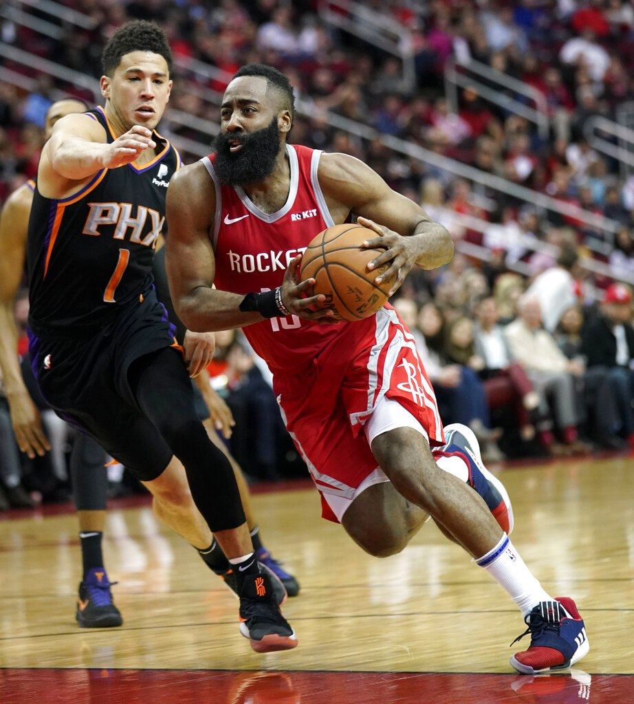 55df867c1907 Harden ties career-high 61. By. Edge Davao. -. James Harden (File Photo)