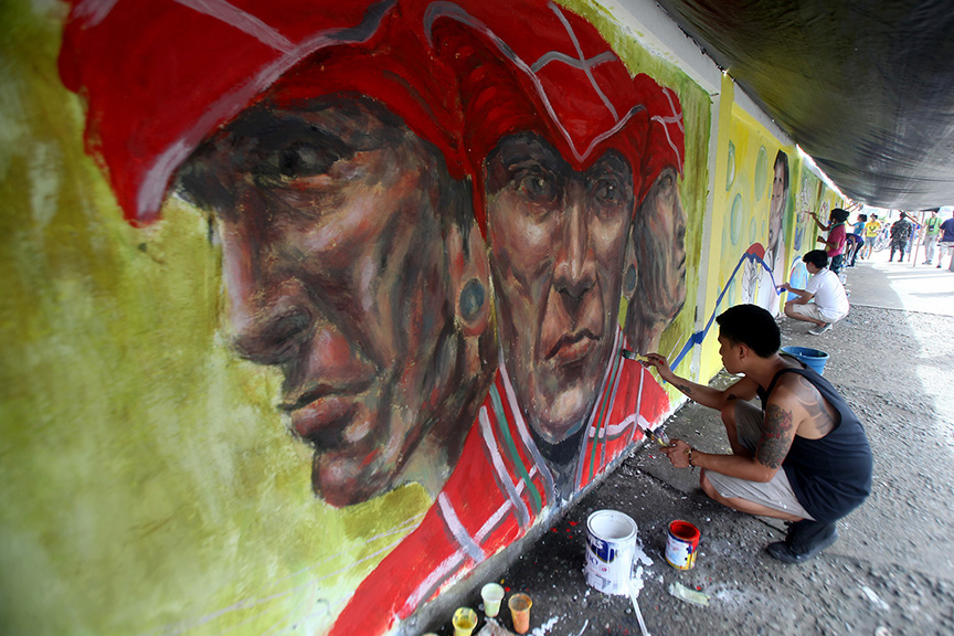 Dabawenyos Conduct Mural Painting Against Trafficking Edge Davao