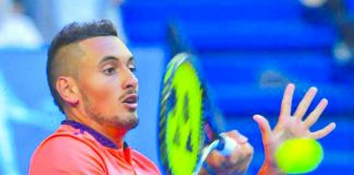 WILD THING. Australian tennis star Nick Kyrgios remained unbeaten in the 20117 Mastercard Hopman Cup. Hopman Cup photo