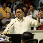 PERPLEXED. A fuming Councilor Danilo Dayanghirang expresses his anger against the Davao City Water District (DCWD) for allegedly ignoring the water supply problem in the second district during a privileged speech in yesterday's City Council regular session at Sangguniang Panlungsod. LEAN DAVAL JR.