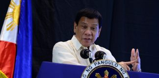 President Rodrigo Roa Duterte points out the sharp increase in heinous crimes right after the death penalty was lifted in his keynote message during the Manila Times 5th Business Forum held in Marco Polo Hotel in Davao City on February 10, 2017. The President added that prior to the lifting of the death penalty, there were only 186 convicted for committing heinous crimes compared to the 3,100 cases after death penalty was abolished. JOEY FRANCIS DALUMPINES /Presidential Photo