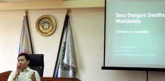 Dr Richard Mata during his lecture at Panabo City