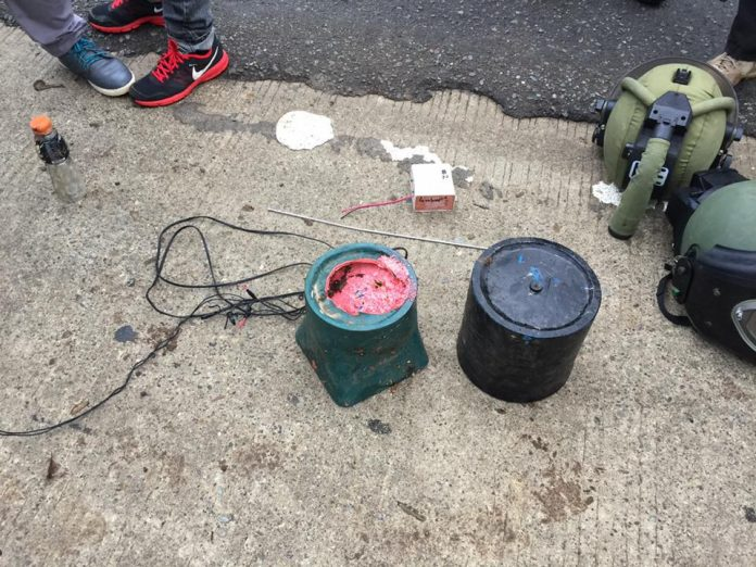 Recovered IED. Photo courtesy of Baguio District Police Station