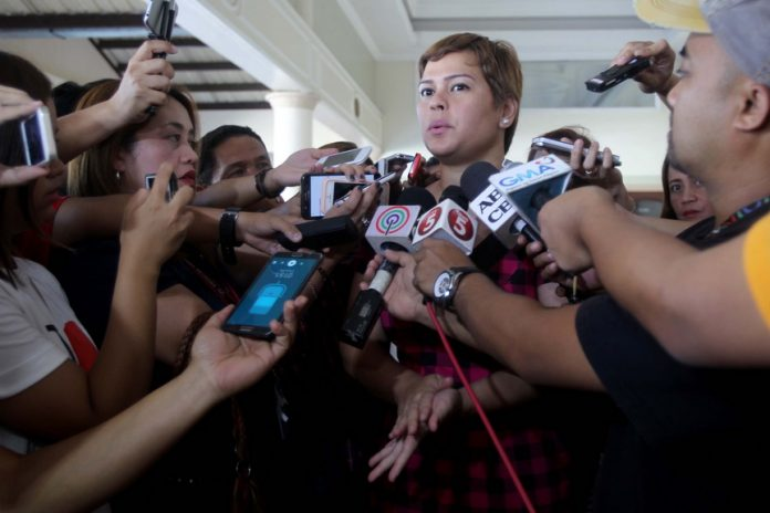 NOT CLOSING DOOR. Davao City Mayor Sara Duterte-Carpio says she will still pursue the local peace talks with the New People's Army despite the recent burning incident and Improvised Explosive Device (IED) explosion that injured a fish seller. LEAN DAVAL JR.