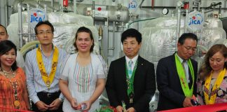 Davao City Mayor Inday Sara Duterte graces the launching of the government-run facility, that will convert used cooking oil to Biodiesel. The facility was donated by the government of Japan thru JICA.