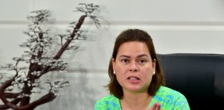OUT OF MIND. Davao City Mayor Sara Duterte-Carpio gestures as she announces the termination of local peace talks with rebel groups during a news conference with local reporters at City Hall on Thursday. LEAN DAVAL JR