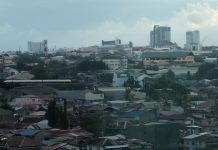 CHANGING SKYLINE. Hotels and condominium buildings dominate the skyline of Davao City in this photo taken on Saturday. Tourism officials reported on Friday that the city's tourist arrivals in 2017 had surpassed the city government's target of two million foreign and domestic tourist arrivals. LEAN DAVAL JR.