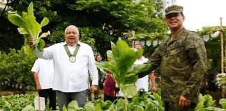 Executive Secretary Salvador Medialdea graces the Hardin ng Lunas Harvest Festival at the Philippine Army Headquarters in Fort Bonifacio, Taguig City on Wednesday. PRESIDENTIAL PHOTO