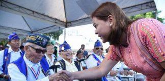 Davao City Mayor Sara Duterte-Carpio leads the commemoration of the 76th Araw ng Kagitingan at the Dambana ng mga Bayani, Freedom Park on Monday morning. CIO