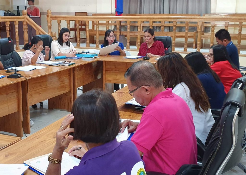Mati City Mayor Michelle N. Rabag presides over the meeting of the local council for the protection of children. Mati City Information Office