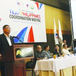 """PSC Chairman and Team Philippines chef de mission William """"Butch"""" Ramirez addresses the assembly of sports leaders for a coordination meeting geared towards a successful staging and participation in the Southeast Asian Games. PSC photo"""